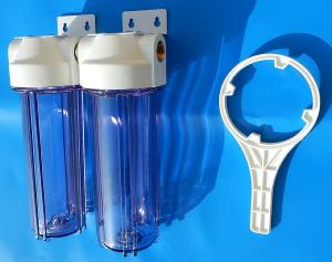 Porte filtres double filtration sédiments 1/2 ""